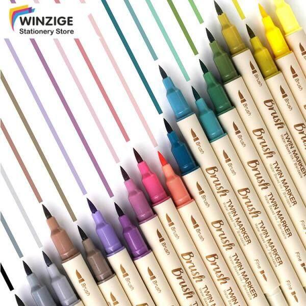 Mua Winzige Bộ bút lông 3 màu bút đánh dấu 2 đầu thay thế nhanh khô màu cổ điển chất liệu nhựa kích thước dài 19cm - INTL