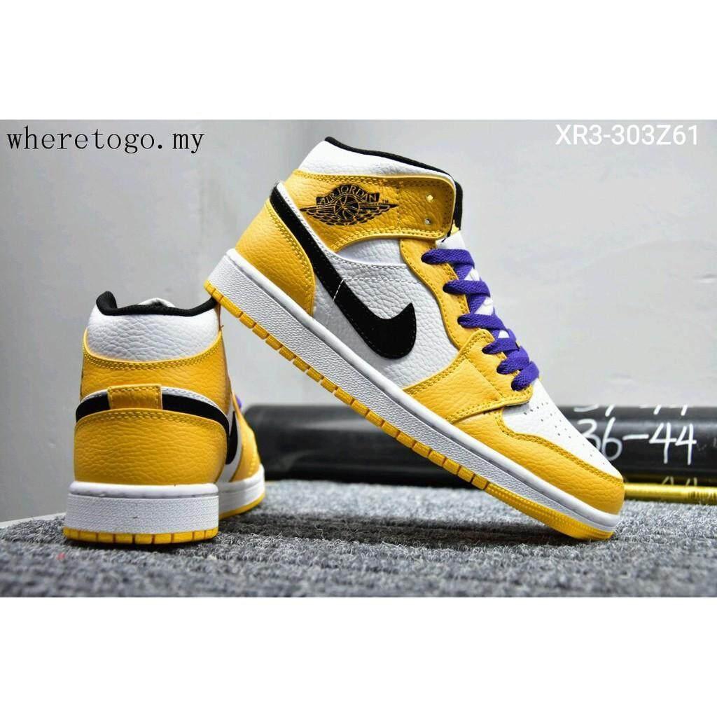 สอนใช้งาน  มุกดาหาร Hot_Sale_Nike_Air_Jordan_1_Mid_AJ1_Men_women_Sneakers_Basketball_shoes_yellow