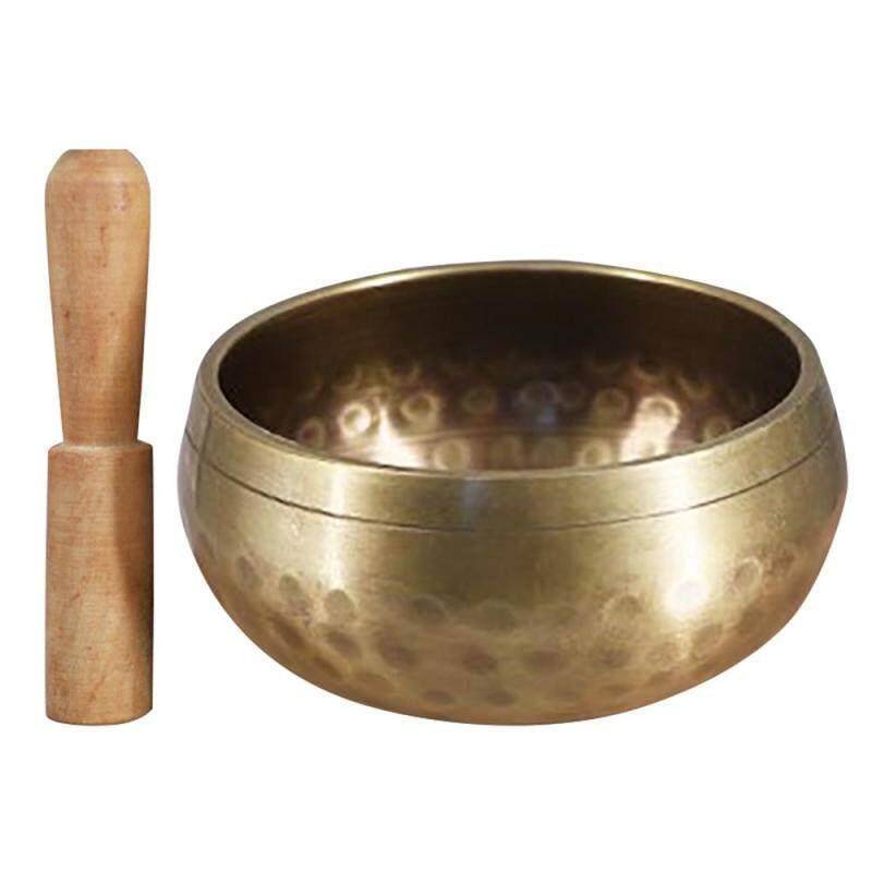 Tibetan Buddhist  Singing Bowl Buddha Sound Bowl Musical Instrument for Meditation with Stick Yoga Home Decoration