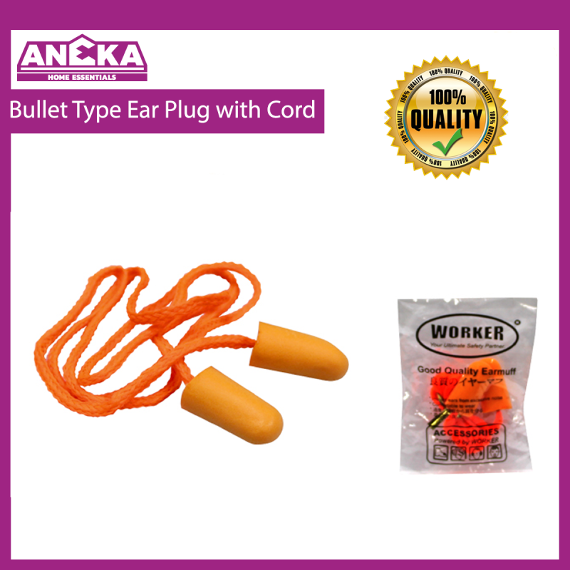 WORKER Bullet Type Ear Plug with Cord W1014