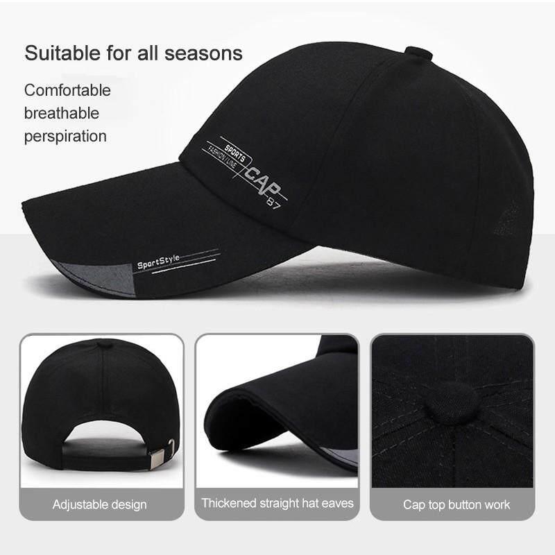 f96fb0906a XHL Sport Cap Mens Hat For Fish Hat Outdoor Fashion Line Baseball Cap Long  Visor Brim Shade Snapback Hat Sun Bone