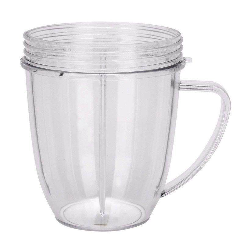 Replacement for Cups. 18 oz Nutri Replacement Cups with Comfort Handel and Screw off Lip Ring (Pack of 2)