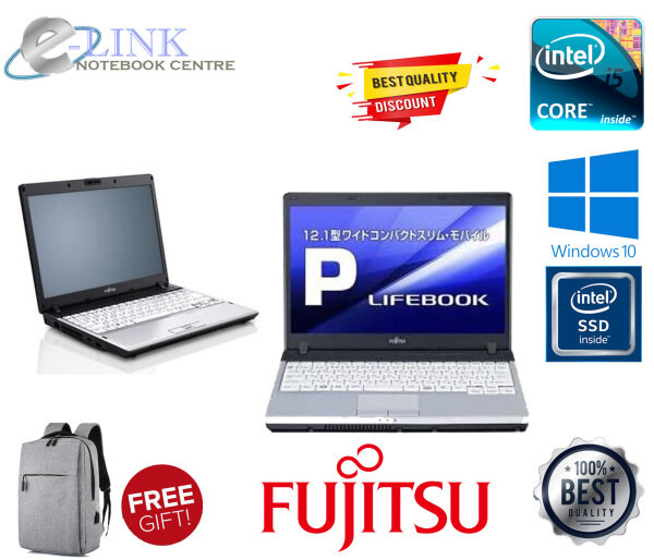 (Refurbished) Fujitsu LIFEBOOK P771 - 12.1 - Core I5 2GEN / 4-8GB RAM / 250GB HDD / 120GB- 240GB SSD / WINDOW 7-10 Malaysia