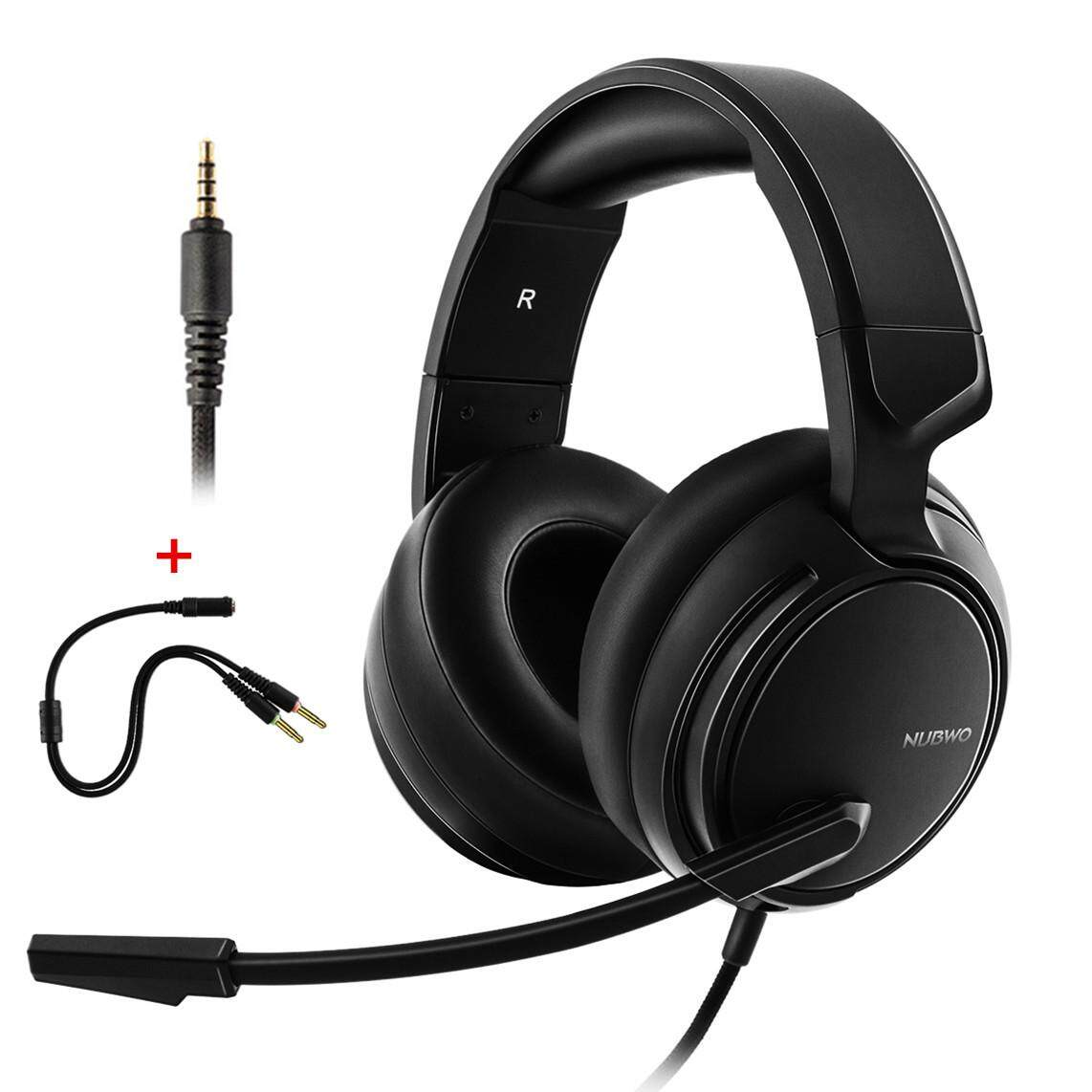 Nubwo N12 3.5mm Ps4 Gaming Headset With Microphone For New Xbox One Laptop Phone Computer Over-Ear Game Headphones Bass Earphones Black By Blingbling Retail Stores.