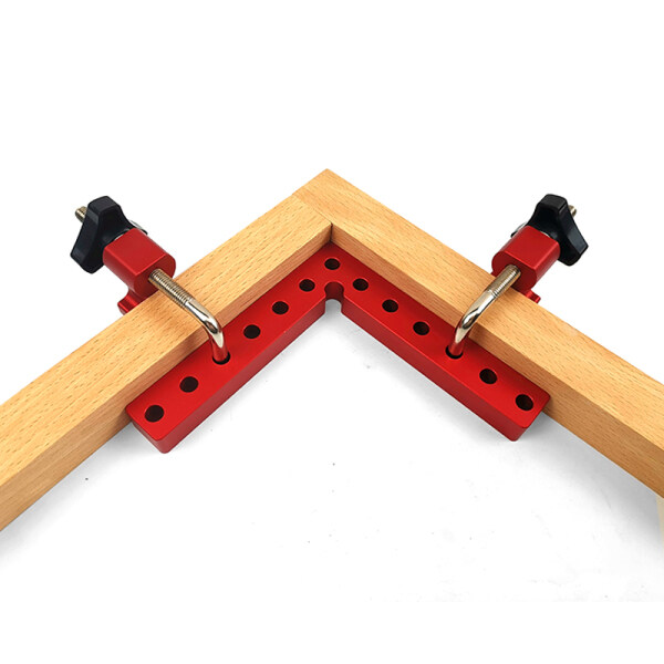 Woodworking Right Angle Clamps 90 Degree L-Shaped Auxiliary Fixture Positioner Clip Adjustable Aluminium Corner Ruler