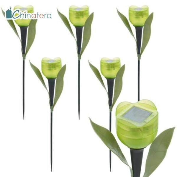 [Chinatera] 6 Đèn LED Năng Lượng Mặt Trời Hình Hoa Tulip Đèn Trang Trí Bãi Cỏ Cảnh Quan Sân Vườn Ngoài Trời Thanh