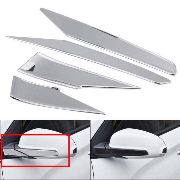 Gương Chiếu Hậu Mouldings Strips Bìa Trim Side Gương Strips Bìa Cho Hyundai Encino Kauai Kona 17-20 SUV Bạc Mạ