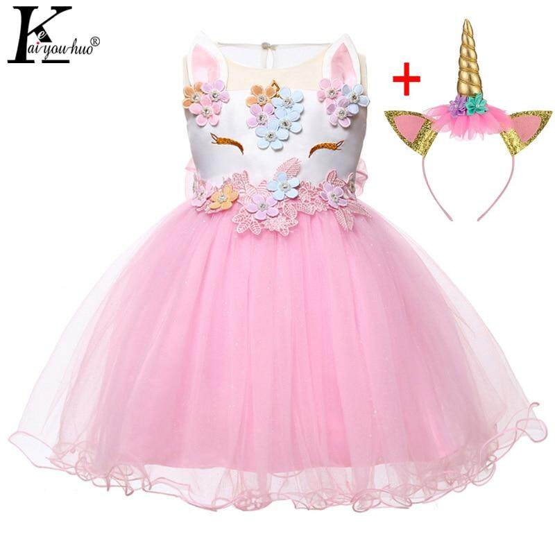 934f823bf New 2Pcs Unicorn Party Baby Girl Dress 2019 Newborn Christmas Clothes  Summer Infant Tutu Dresses 1