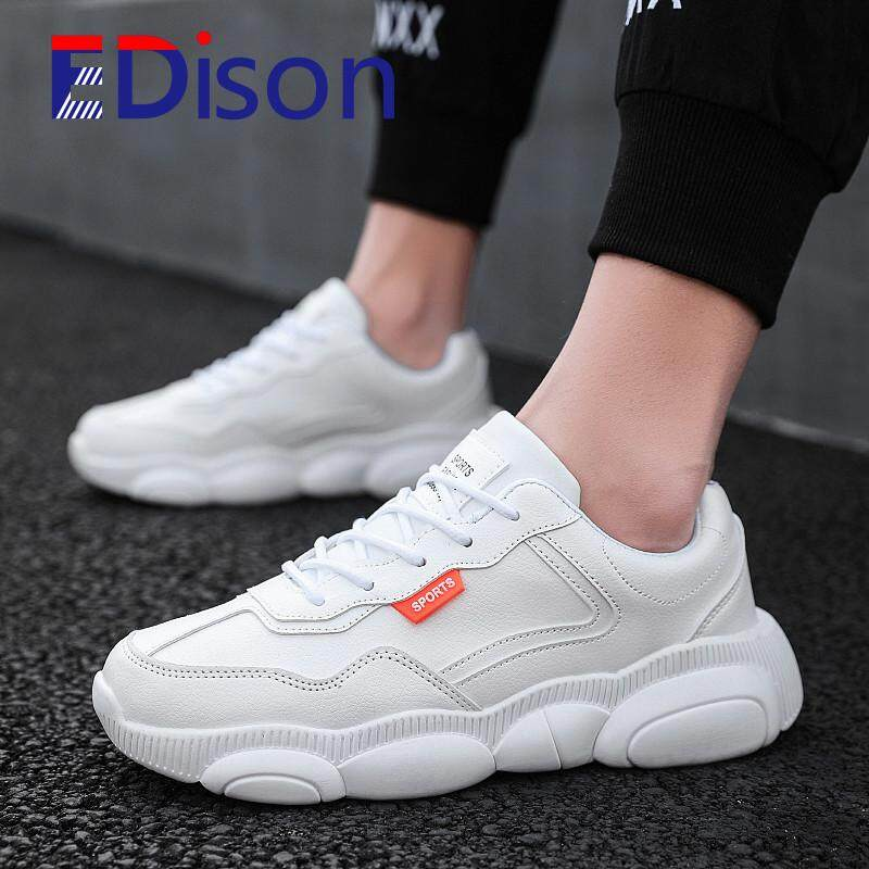Breathable Fashion Running Casual Shoes Mesh Sport for Men Comfortable Outdoor Youth 2019 New Style Trend Non-slip Classic Sneaker-(White)