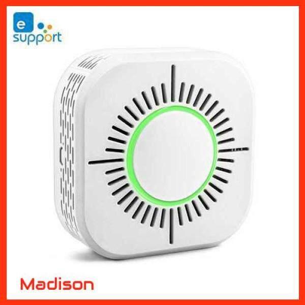 [ Madison ] eWeLink Smoke Detector Sensor Wireless 433MHz Fire Security Protection Alarm Sensor Work with Sonoff RF Bridge APP Control Smart Home For Home Kitchen/Store/Hotel/Factory (Standard)