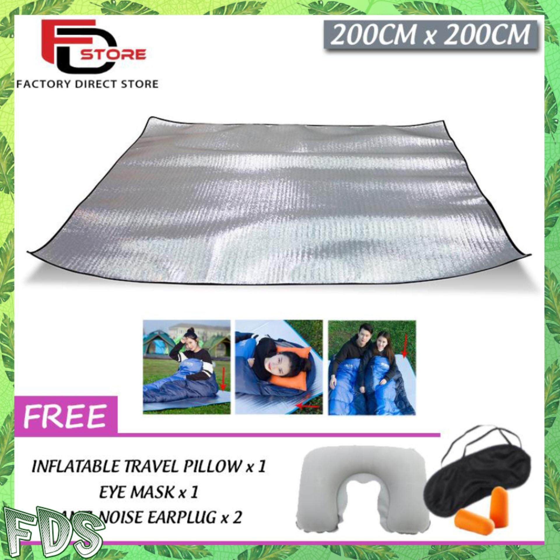 Safety Clothing Double Sided Foldable Waterproof Aluminum Foil Mat Outdoor Travel Beach Mat Sleeping Mattress For Camping Hiking