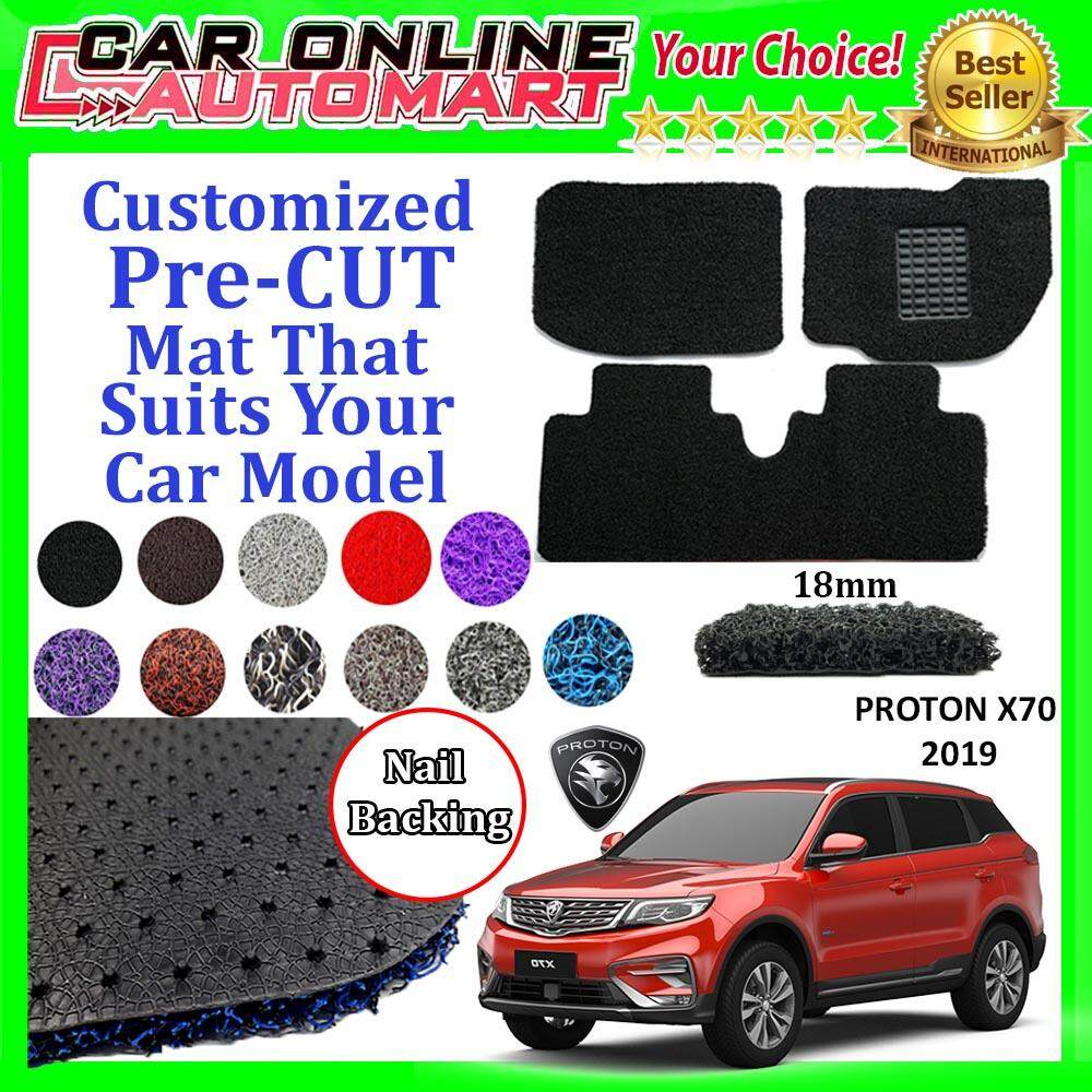 Proton X70 Suv 18 Mm Pre-Cut Pvc Coil Floor Mat Anti Slip Spike Grib Carpet Customize Car Mat By Car Online Automart.