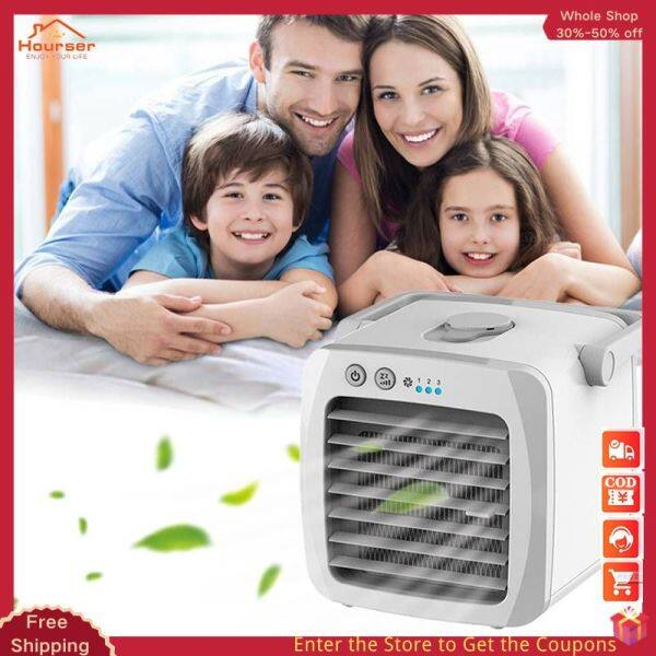 【Hourser】Mini Portable Air Conditioner Conditioning Humidifier Purifier Air Cooler Personal Space Air Cooling Fan For Office Home