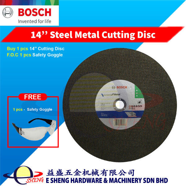 Bosch 14'' Steel Metal Cutting Disc for Economy Speed Cut (355mm x 3.0mm x 25.4 mm) - 3165140599627 F.O.C Safety Goggle