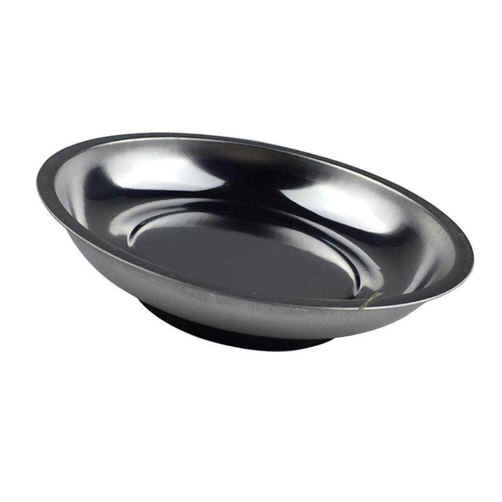 Round Magnetic Stainless Tray Bowl Dish Screw Nuts Car Parts Mechanic Garage