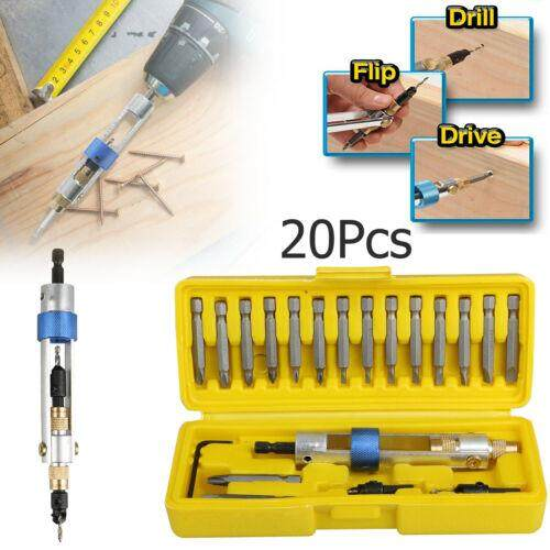 HT [Free shipping] 20Pcs/Set Drill Driver Multi Screwdriver Sets High Speed Bits Wrench Box Half Time Drill