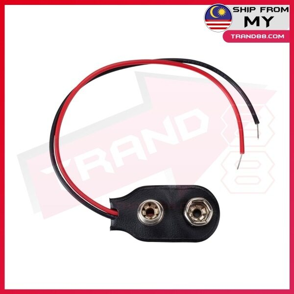 9V Battery Snap Holder Clip Connector Hard Shell 10CM Cable Lead