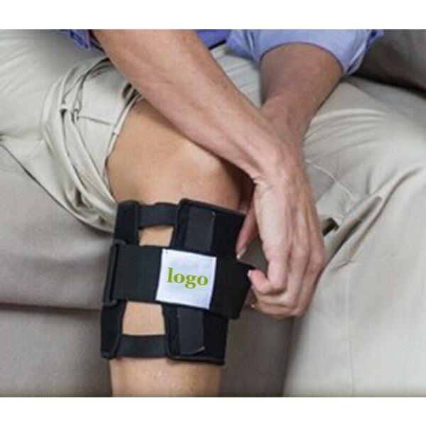 Baru Batu Magnet Acupressure Beactive Brace Titik Pad Lutut Kaki Sokongan Hitam Tekanan Saraf Sciatic Pad Urut