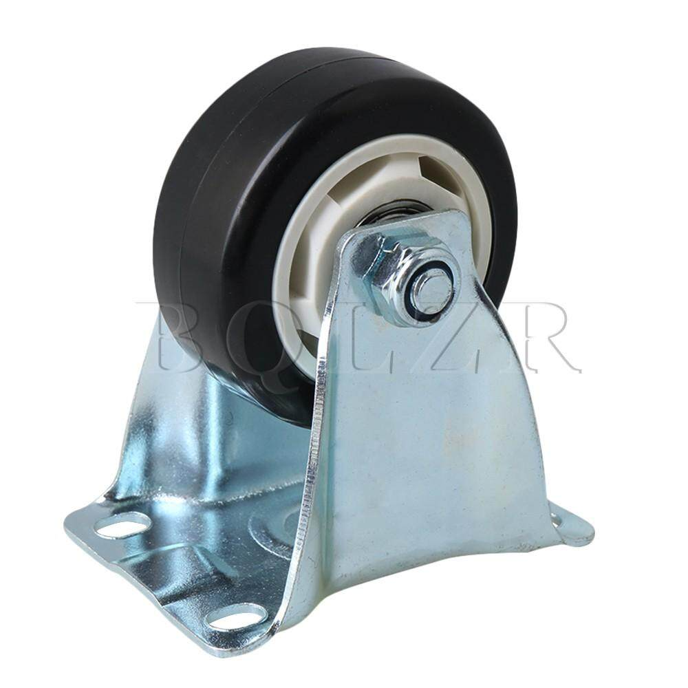Metal Single Axis Directional Caster Flatbed Truck Trolley Wheel Black