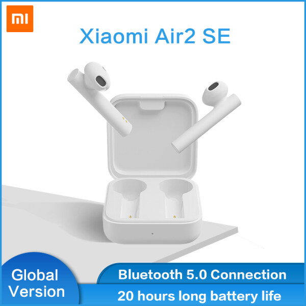 【Global Version】Xiaomi Mi Air2 SE TWS True Wireless Earphones BT 5.0 Pop-up Headset Sports Business Mini Earbuds 20H Music Time SBC AAC Dual Mic Tap Control For iOS Android Phone TWSEJ04WM Singapore