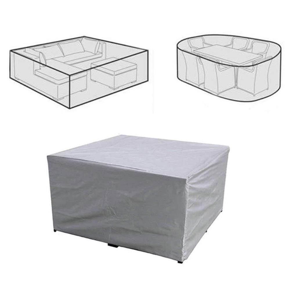 C-S Tarps Seal Windproof Insulation Plastic Clot Garden Furniture Cover Rattan Table Chair Waterproof Protective Cover Rectangular Cube Dustproof Cover