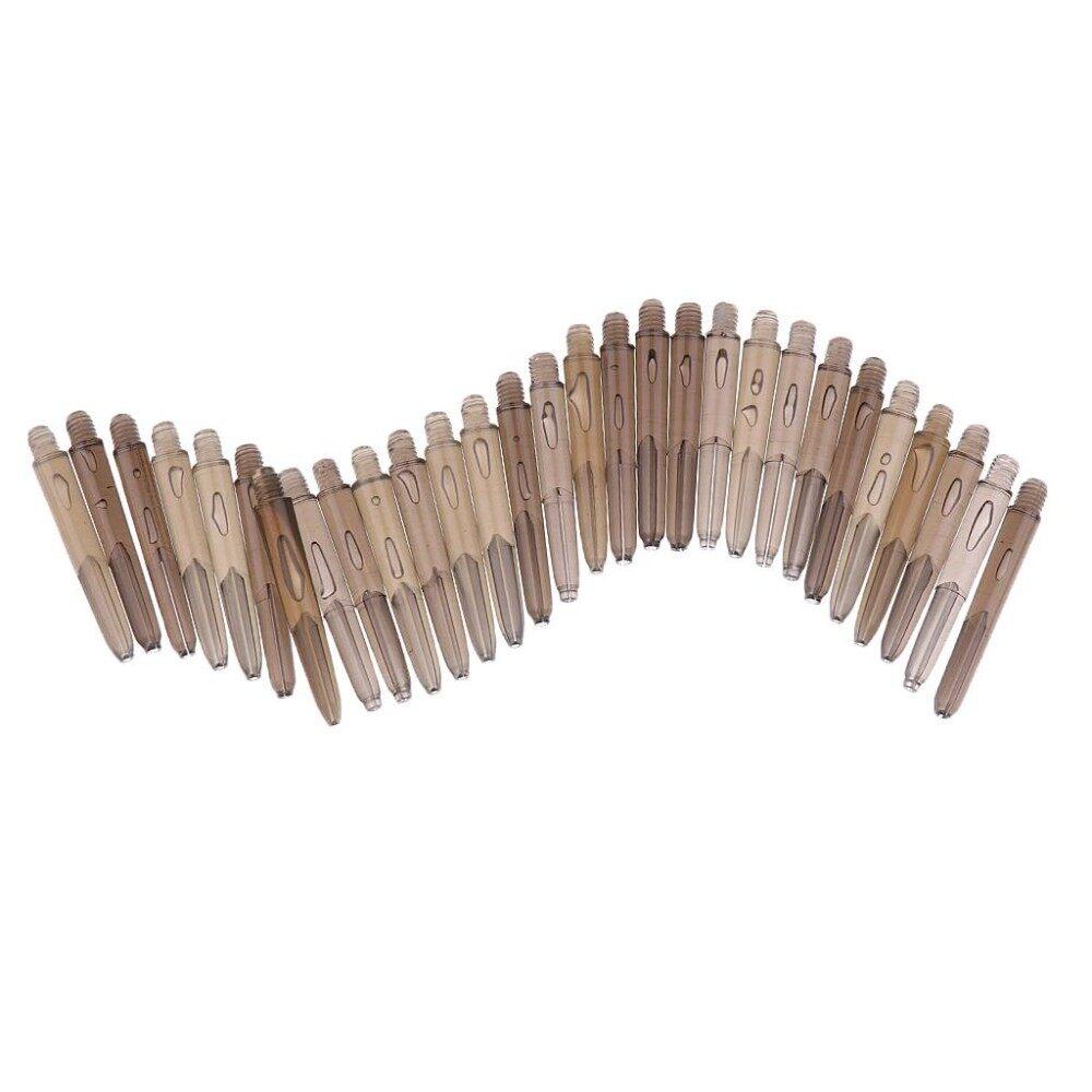Soft Tip Dart Pack 30 Black Plastic Dart Stems Shafts Universal for Steel