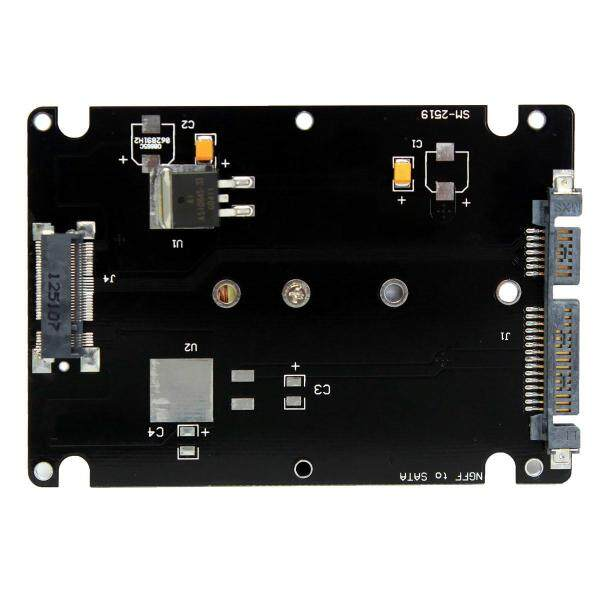 Giá M.2 NGFF (SATA) SSD Đến 2.5  Card Chuyển Đổi Sang Sata 8Mm Độ Dày Bao Vây Với Trường Hợp-Màu Đen-
