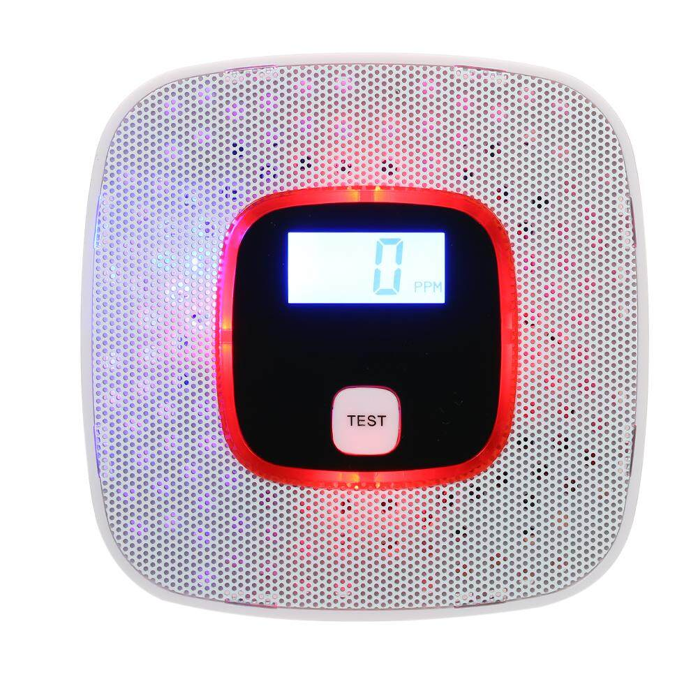 Batt-ery Operated Carbon Monoxide Detector CO G-as Sensor Alarm with Human Voice Prompt for Garage G-as Fireplace Home Security