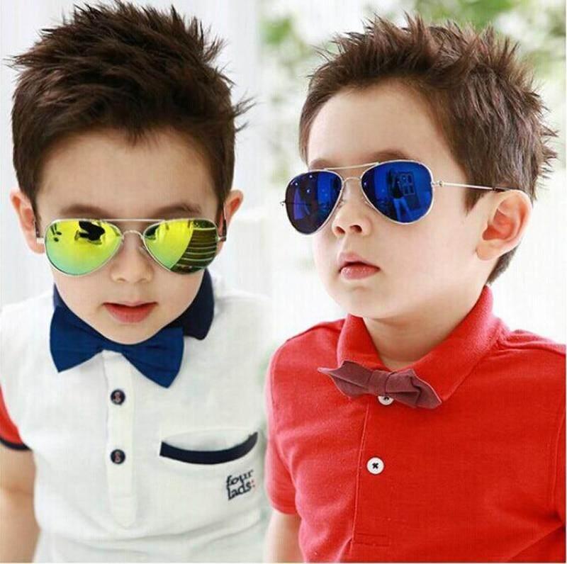 Giá bán HZP Thời Trang Bé Trai Trẻ Em Sunglasses Piolt Phong Cách Thiết Kế Thương Hiệu Trẻ Em Sun Glasses 100% UV Bảo Vệ