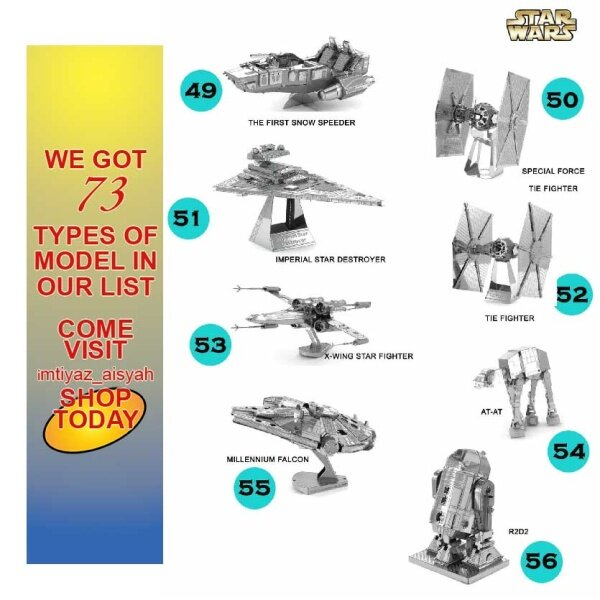 ∏✱◕  ( STAR WARS ) 3D METAL PUZZLE MODEL FOR HOBBIES EDUCATION AND COLLECTION ITEM