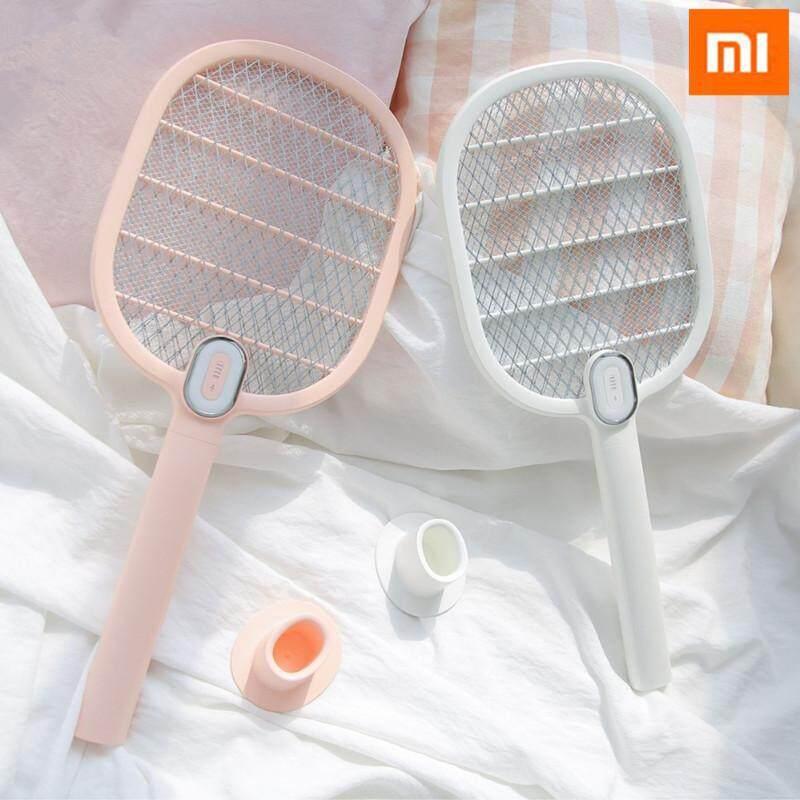 Đèn Điện Xông Swatter Muỗi Dispeller Đèn Led Sạc Điện Loài Côn Trùng Bọ Bay Đèn Diệt Muỗi Vợt 3 Lớp Lưới