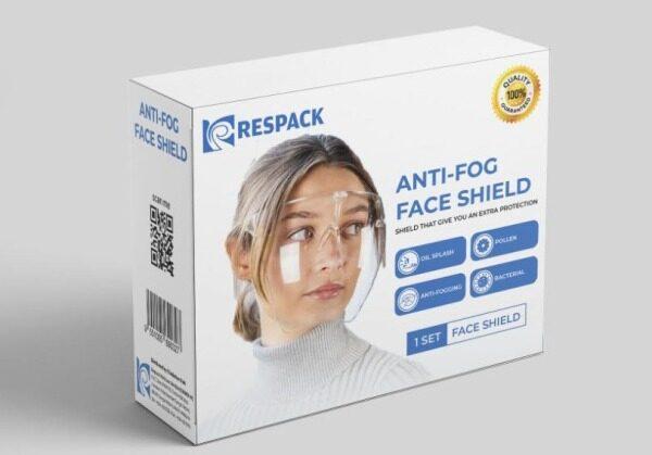 RESPACK Transparent Full Face Shields Visor Transparent Anti Fog Shields