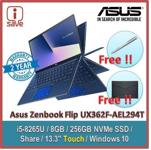 Asus Zenbook Flip 13 UX362F-AEL294T 13.3 FHD Touch Laptop Royal Blue Malaysia