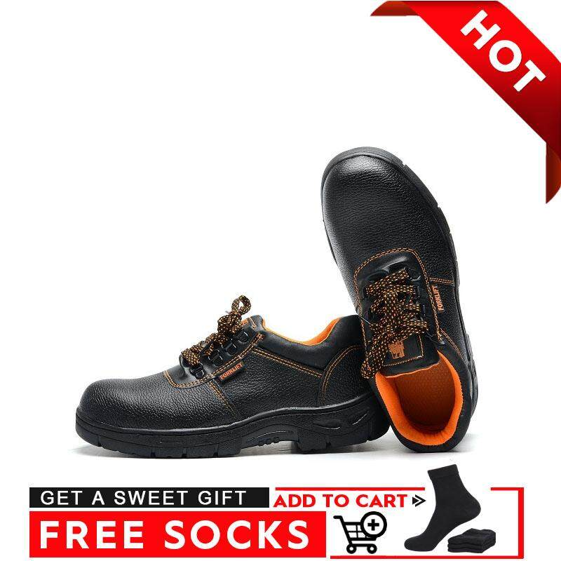 Border【high Quality 】microfiber Leather Safety Shoes Low To Help Tongue Work Shoes By Border Store.