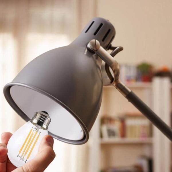 Viugreum Bóng Đèn LED Bóng Đèn Cổ Điển Tiết Kiệm Năng Lượng Màu Trắng E27/E14 4W