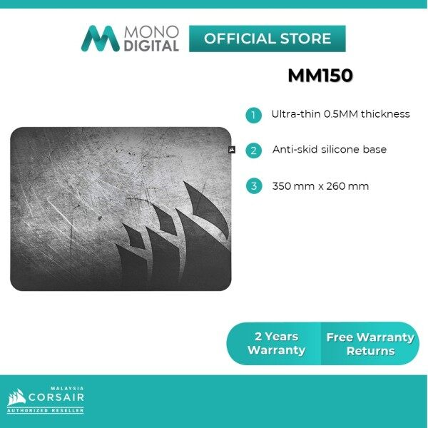CORSAIR MM150 Ultra-Thin Gaming Mouse Pad - Medium (CH-9421591-WW) Malaysia