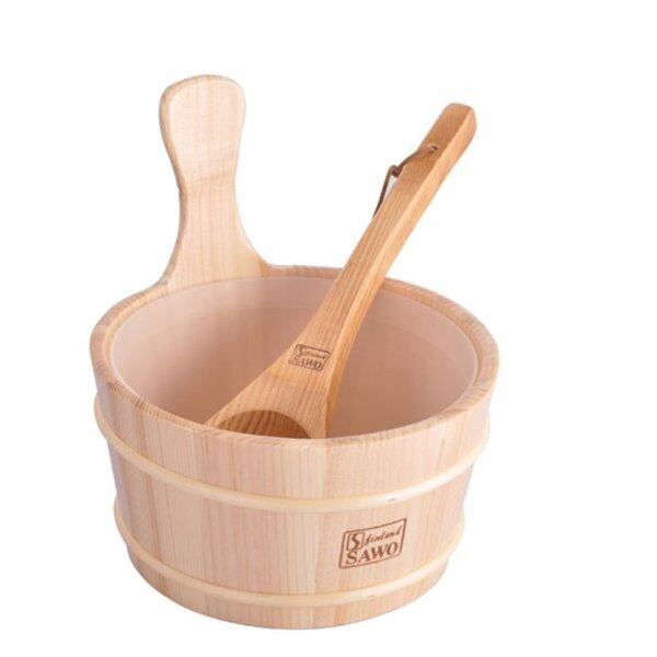 Buy TOP Bathroom Natural Sauna Bucket Wooden Spoon With Lined Portable Wooden Skin Weight Loss Sauna Tool Supplies Singapore