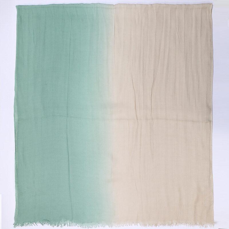 รีวิว Jifangผ้าพันคอคลุมไหล่ผ้าคอตตอนลินินสีไล่ระดับ,ผ้าคลุมไหล่มุสลิมฮิญาบผ้าพันคอผ้าคลุมศีรษะ180X90ซม. 11สีWJ576