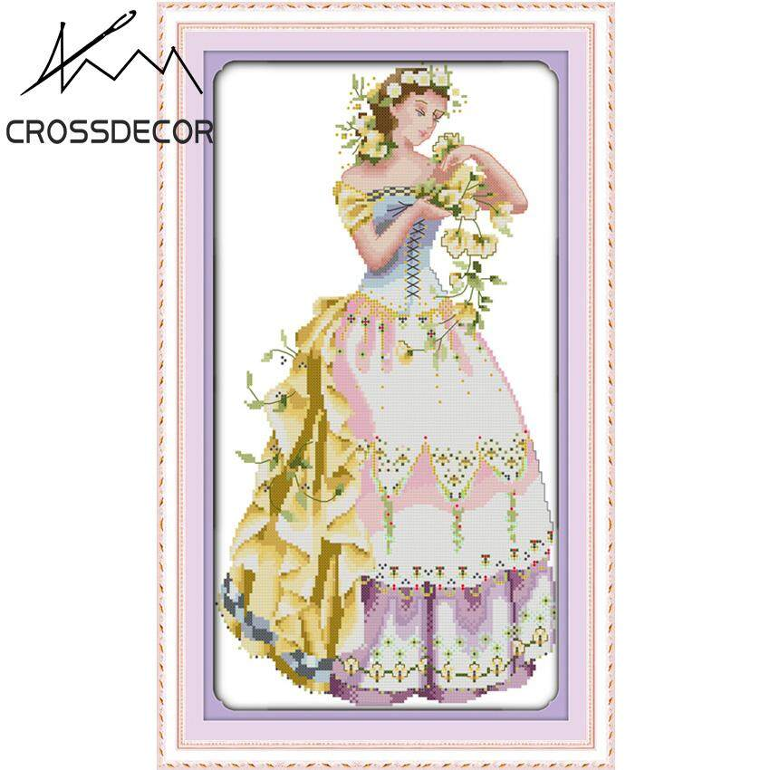 Stamped Cross Stitch Set The Young Girl DIY Embroidery Handmade Needlework Kits Home Living Room Wall Decor Picture