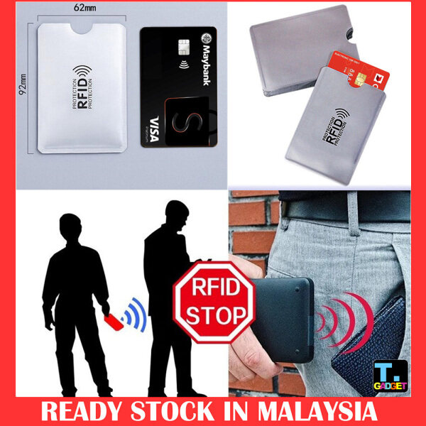 1pcs Smart Safety Anti-Theft Card Case RFID Blocking ID Card Holder Blocking Reader Credit Cards Protect Case Cover