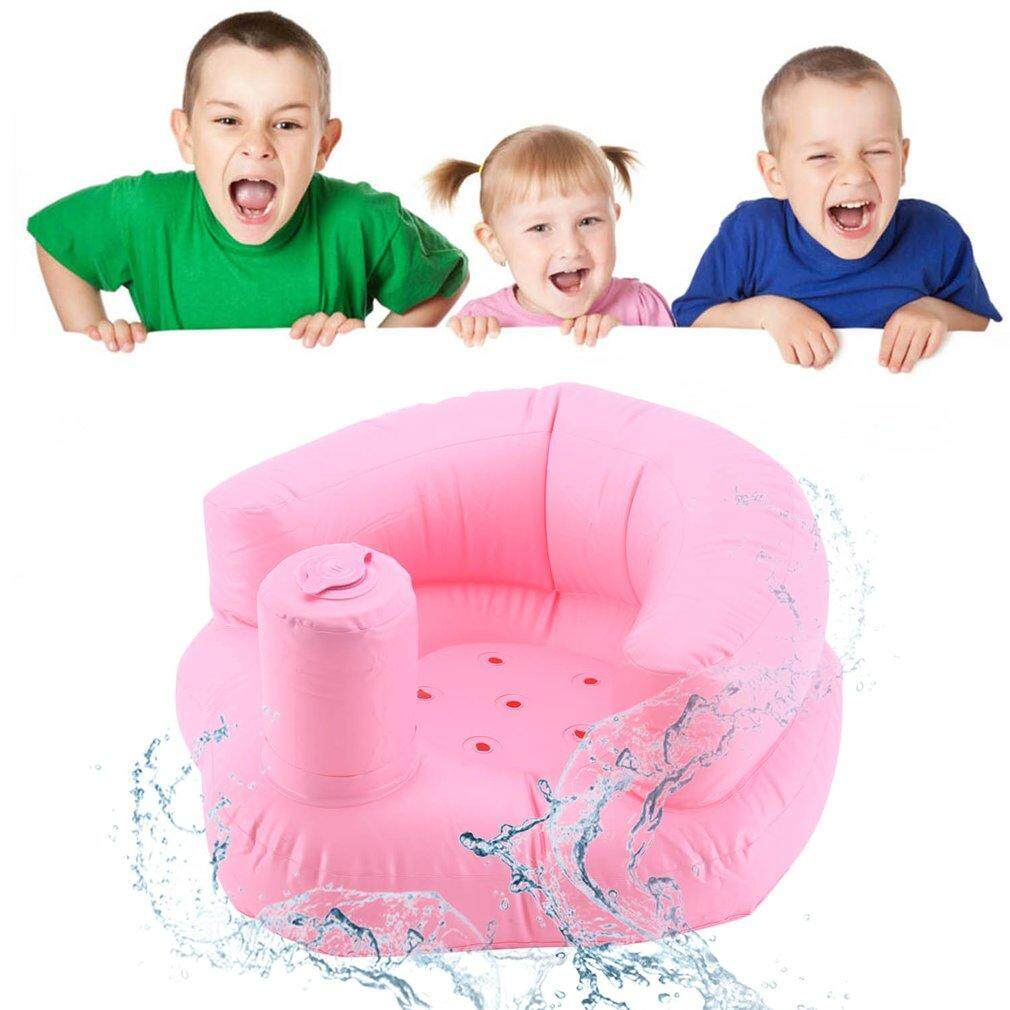 GOOD Funny Design Inflatable Baby Kid Children Sofa Widened Thickened Sofa Chair pink