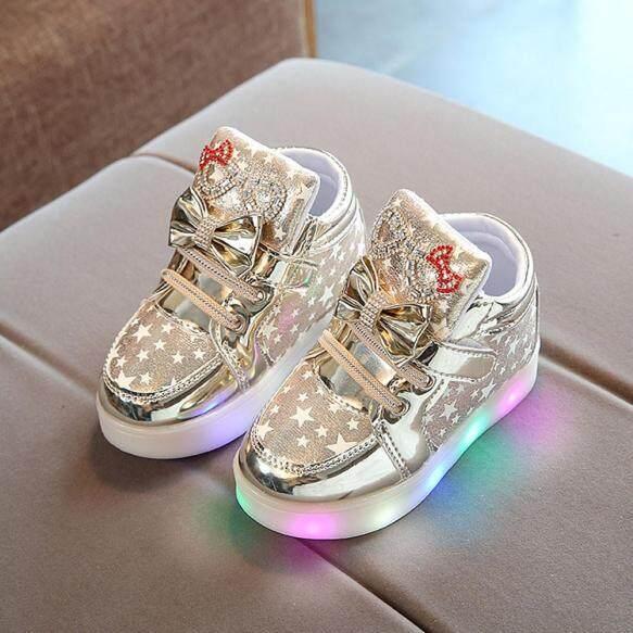 Giày Thể Thao Thời Trang Trẻ Em KIO Giày Phát Sáng Nhiều Màu Thông Dụng Có Ngôi Sao Cho Bé giá rẻ