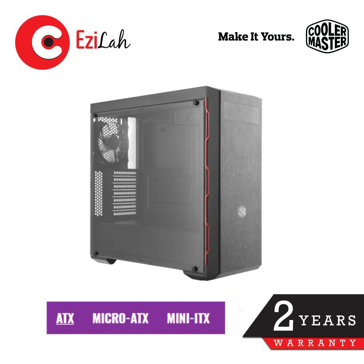 (Last Chance!) Cooler Master MasterBox MB600L ATX Gaming Case with Red Trim Malaysia