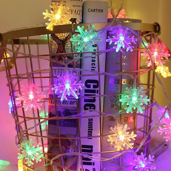 Bảng giá Dây Đèn LED Hình Bông Tuyết 10M 100LED Trang Trí Vòng Hoa Đèn Thần Tiên Phong Cảnh Vườn Ngoài Trời Để Trang Trí Luces Ngày Lễ