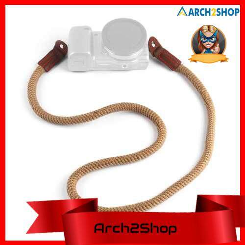 Cotton Camera Neck Shoulder Strap Lanyard Compatible with Mirrorless Camera (Light Brown)