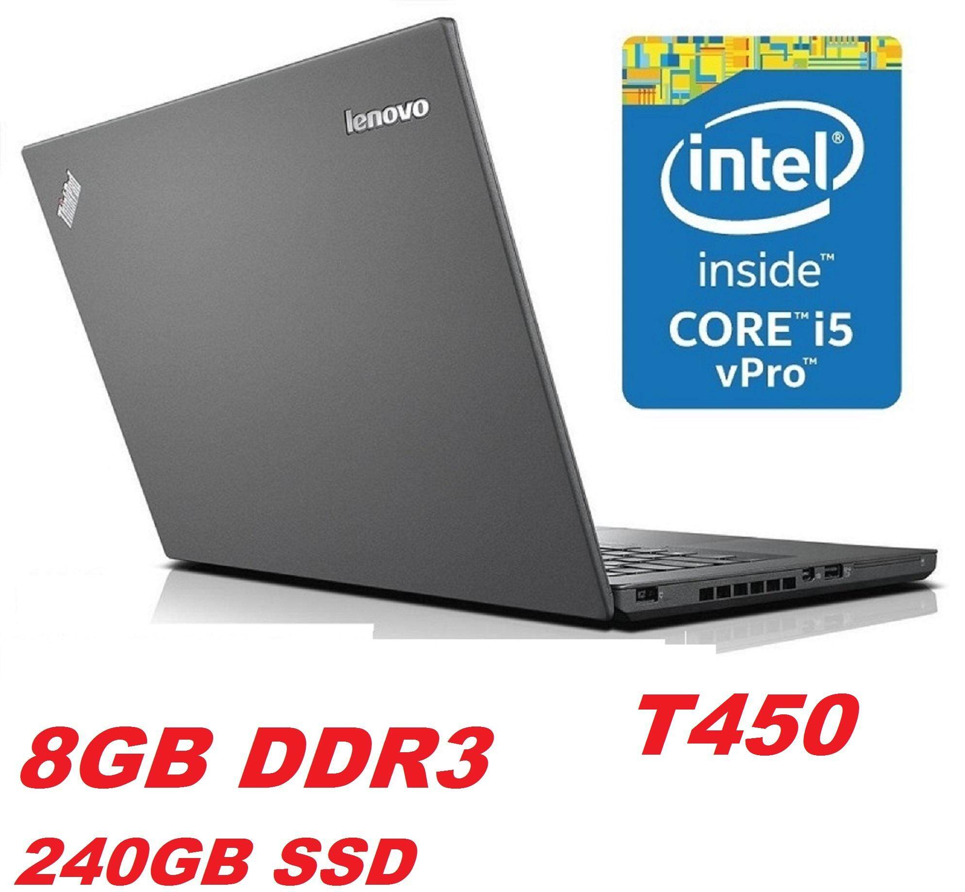 LENOVO THINKPAD T450 INTEL CORE i5 5TH GEN5300U 2.3 GHZ/8GB DDR3 RAM/240GB SSD/14 LED SCREEN/INTEL HD GRAPHIC CARD/WIN 10 PRO Malaysia