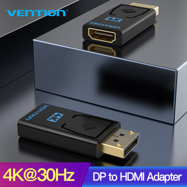 Bảng giá Vention DP To HDMI 4K 30Hz Displayport Adapter Male To Female Cable Converter DisplayPort To HDMI Adapter For PC TV Projector Phong Vũ