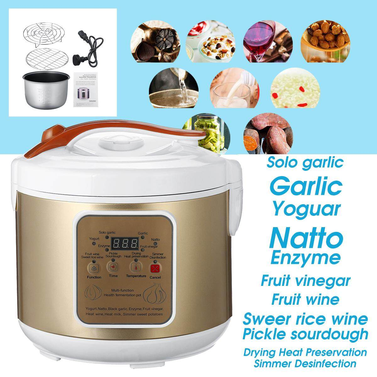 5l 90w Automatic Black Garlic Fermenter Ferment Garlic Yogurt Natto Wine Maker By Audew.