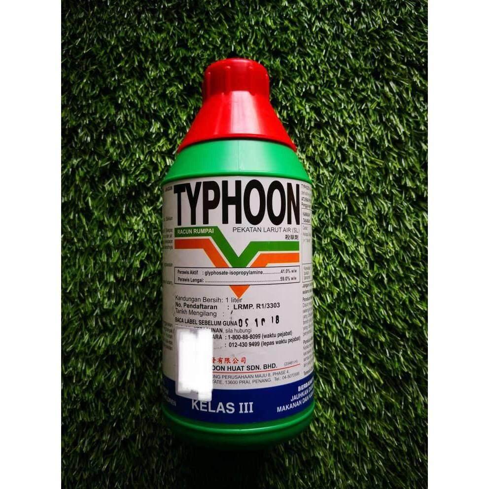 1L Typhoon Glyphosate 41% Herbicide Racun Rumput
