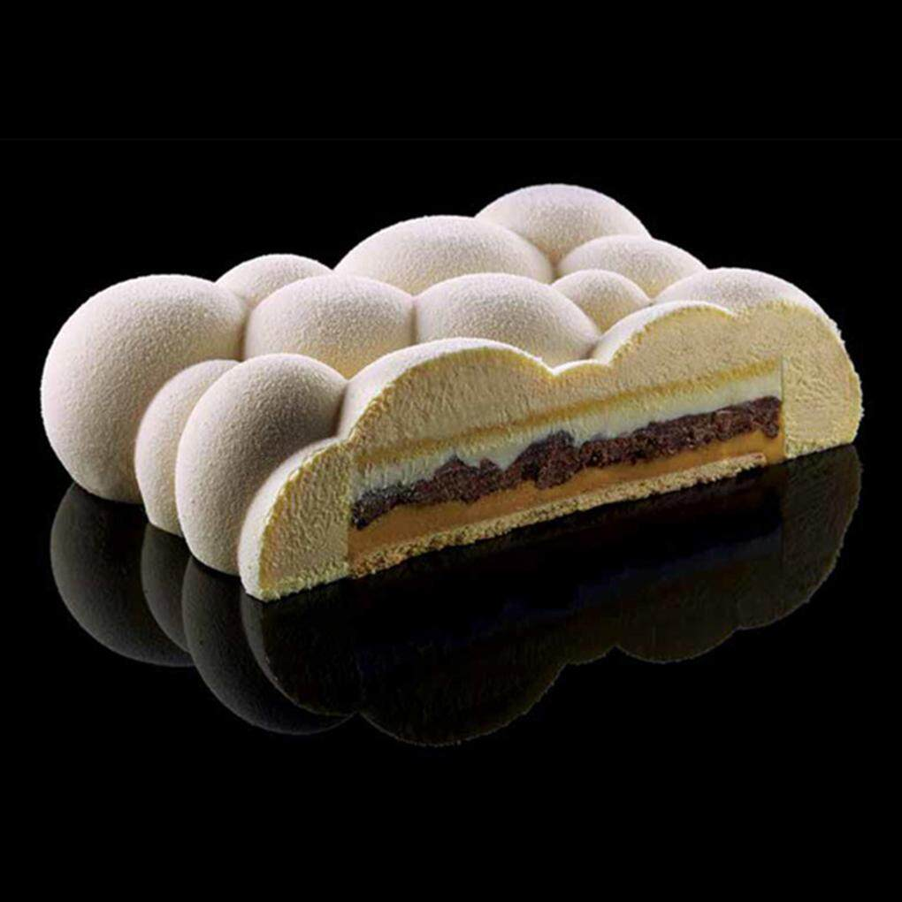Feiqiong Khuôn Silicon Nướng Bánh Tự Làm Mới Nhất, Khuôn Bánh Mousse Hình Đám Mây Cookie Máy Cắt Dụng Cụ Trang Trí Bánh, Phụ Kiện Nhà Bếp